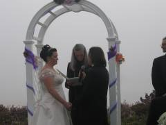 Jeff and Sarah Stand at the Altar